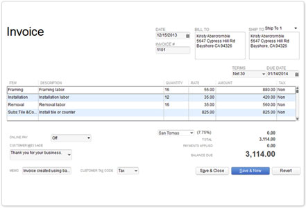 Invoicing And Accounting Software QuickBooks - What does a quickbooks invoice look like
